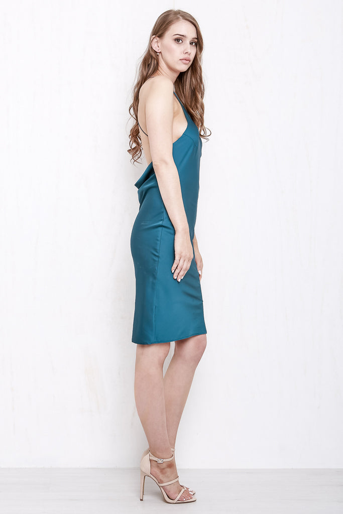 Cross My Heart Dress Shimmering Teal - Morrisday | The Label - 4