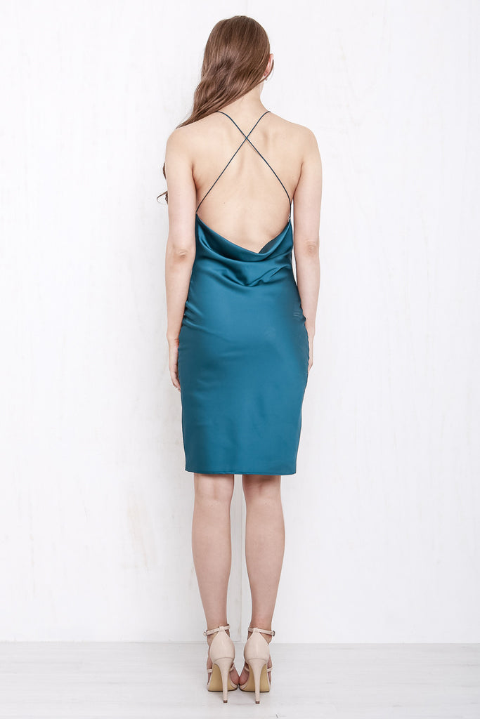 Cross My Heart Dress Shimmering Teal - Morrisday | The Label - 5