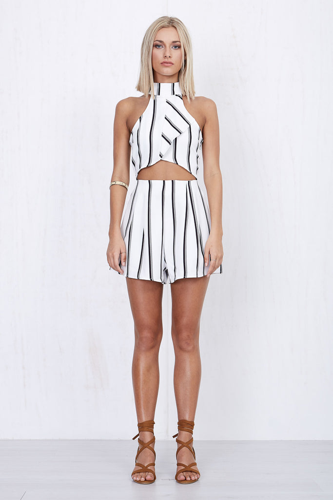 Kendall Stripe Playsuit - Morrisday | The Label - 1