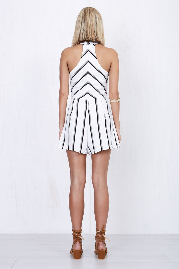 Kendall Stripe Playsuit - Morrisday | The Label - 5