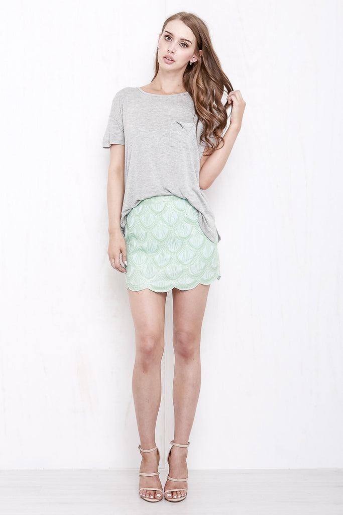 Mermaid Sequin Mini Skirt Mint Green - Morrisday | The Label - 6