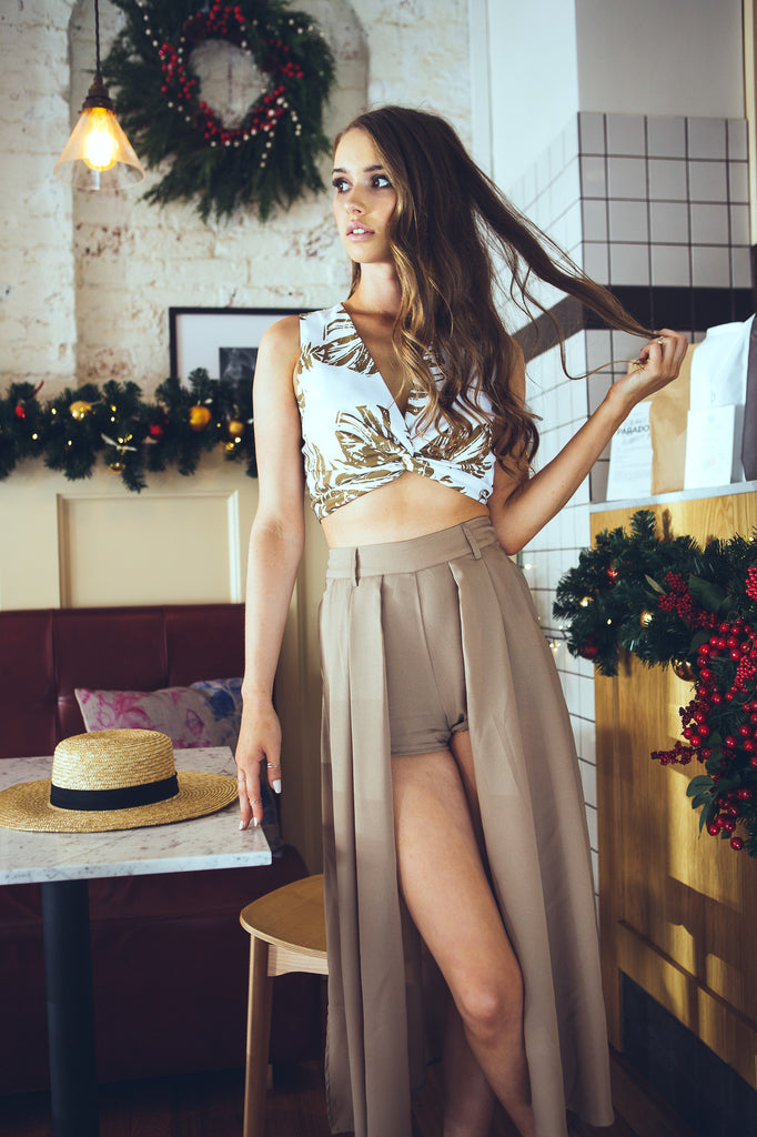 Midnight In Paris Maxi Skort Mocha - Morrisday | The Label - 10