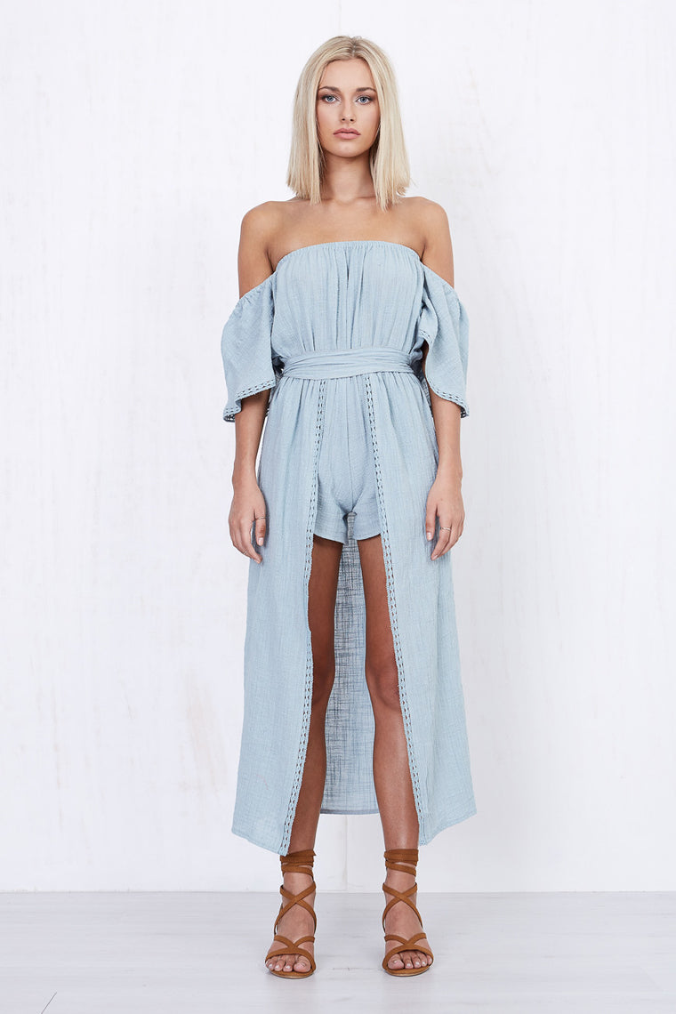 Dreamboat Maxi Skort Dress Sky - Morrisday | The Label - 1