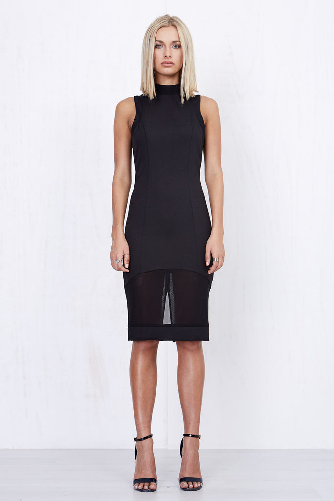 Annabelle Sheer Dress Black - Morrisday | The Label - 2