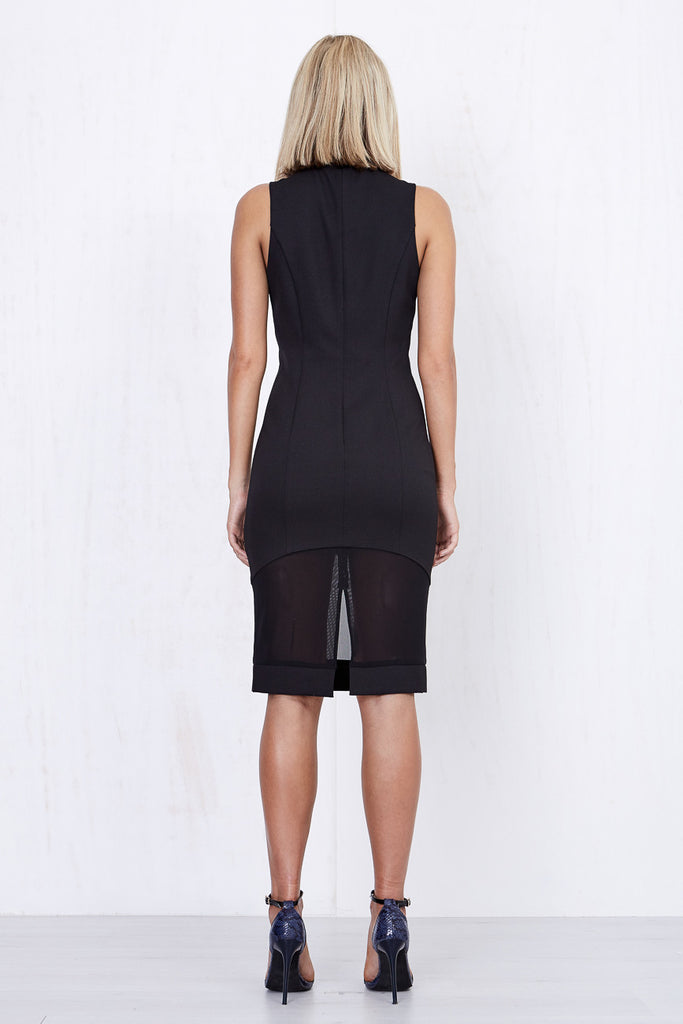 Annabelle Sheer Dress Black - Morrisday | The Label - 5