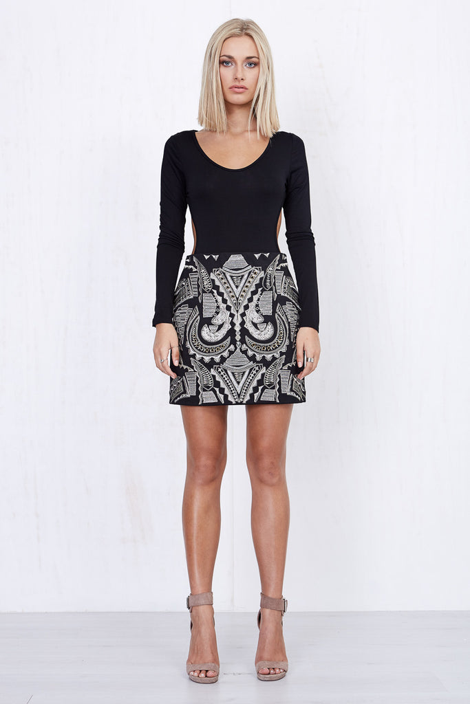 Nina Embroidered Skirt Black - Morrisday | The Label - 1