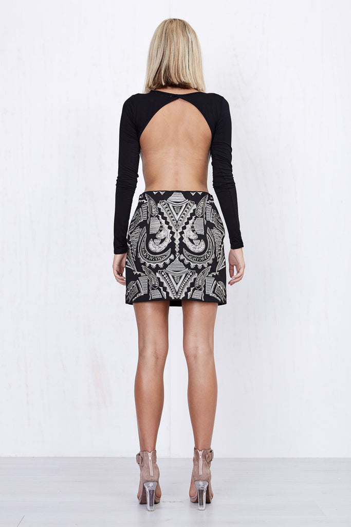 Nina Embroidered Skirt Black - Morrisday | The Label - 5