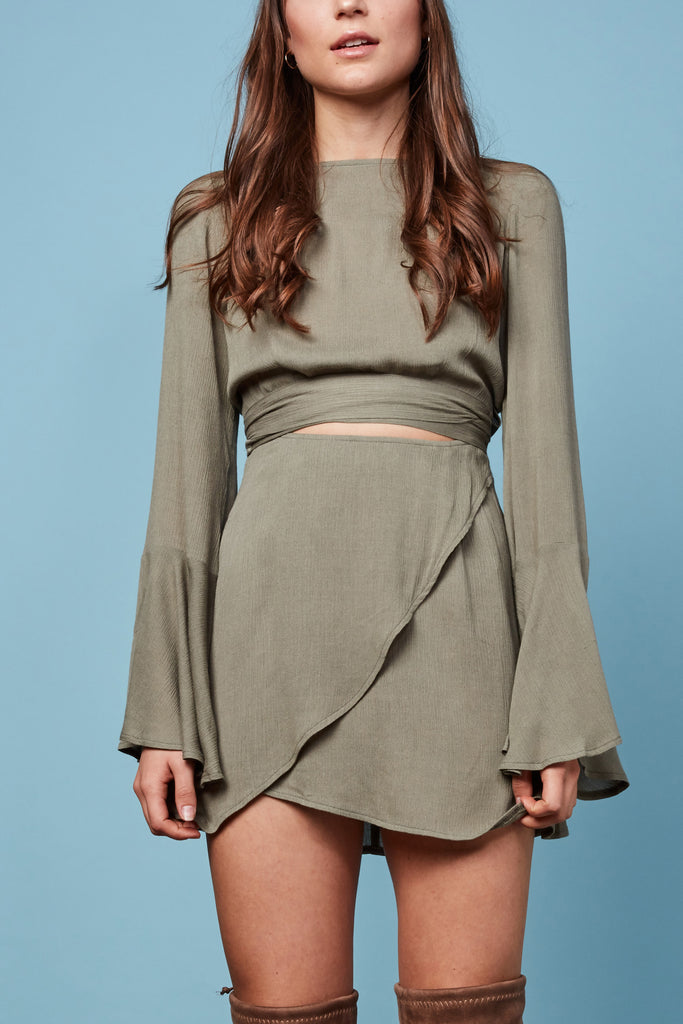 Georgie Mini Dress Sage