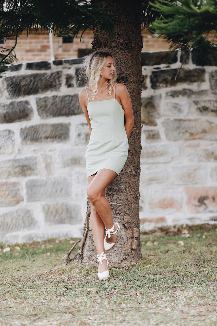 Paloma Mini Dress Lime