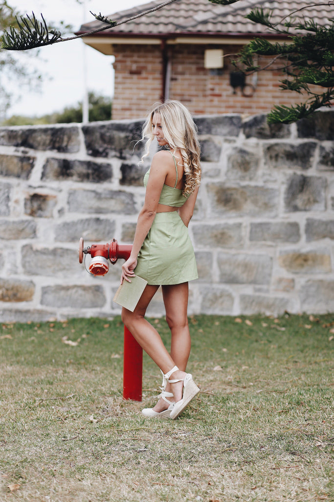 Paloma Mini Skirt Lime