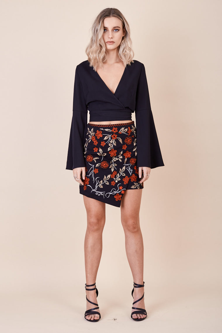 Carousel Embroidered Skirt - Morrisday | The Label - 1