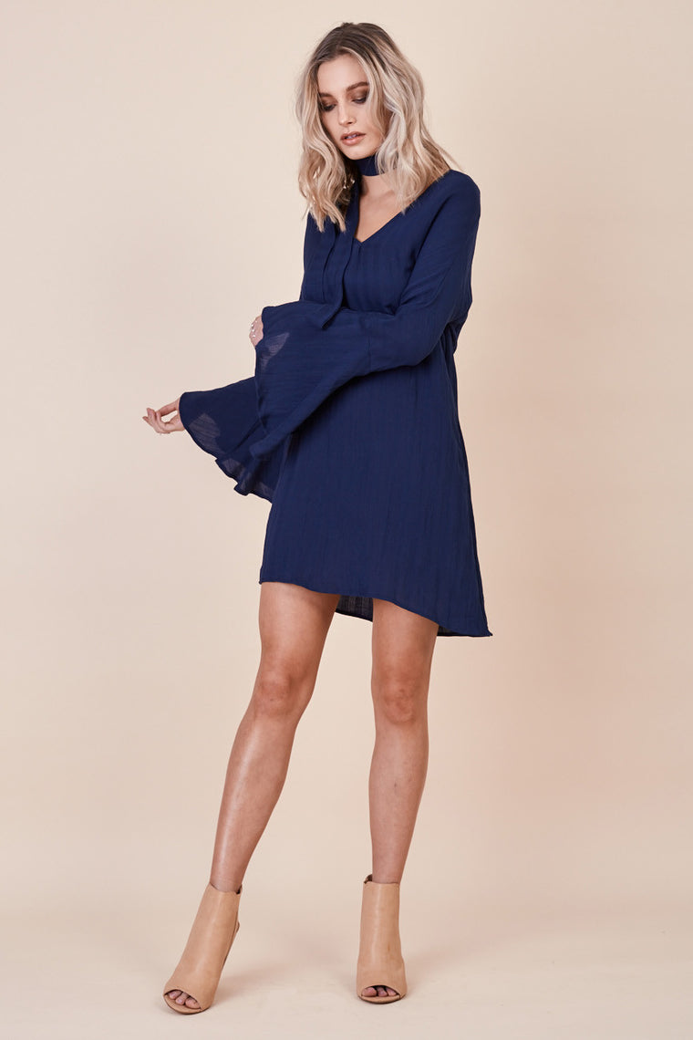 Sienna Bell Sleeve Dress Navy - Morrisday | The Label - 1