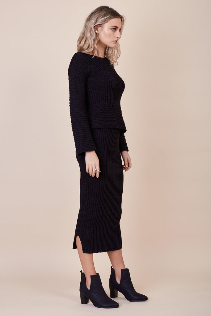 Daydream Knit Skirt Black - Morrisday | The Label - 2