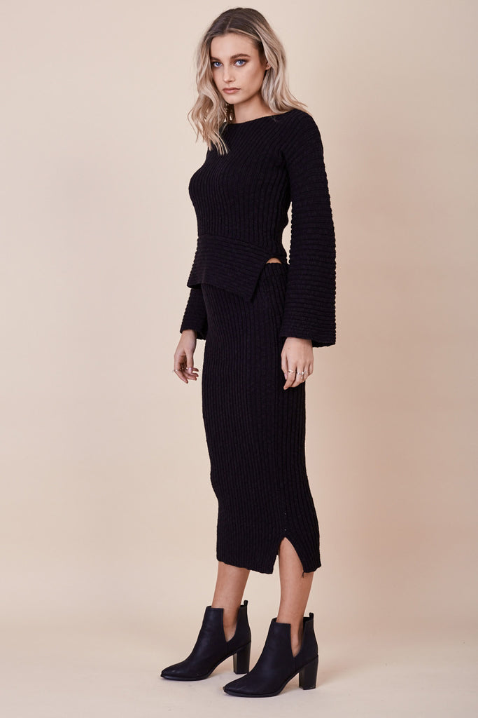 Daydream Knit Skirt Black - Morrisday | The Label - 4