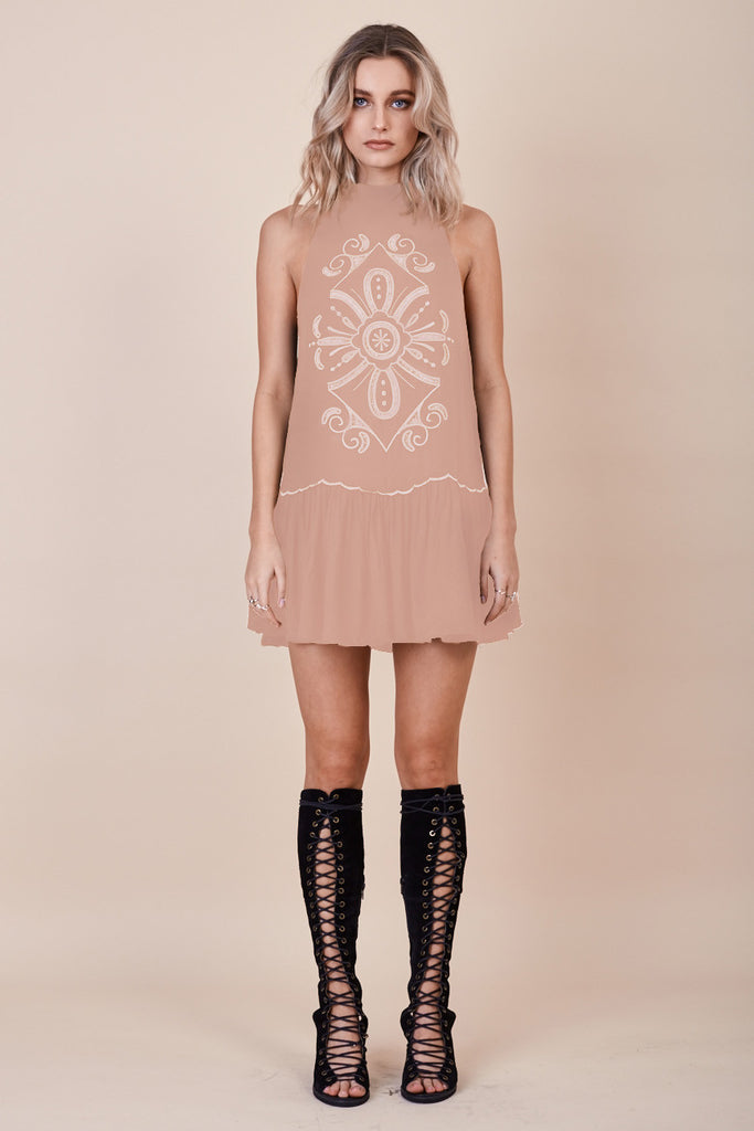 Pandora Embroidered Dress Nude - Morrisday | The Label - 3