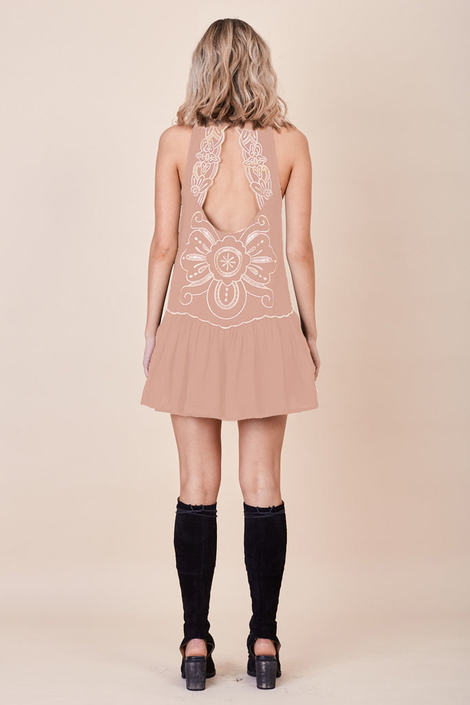 Pandora Embroidered Dress Nude - Morrisday | The Label - 5
