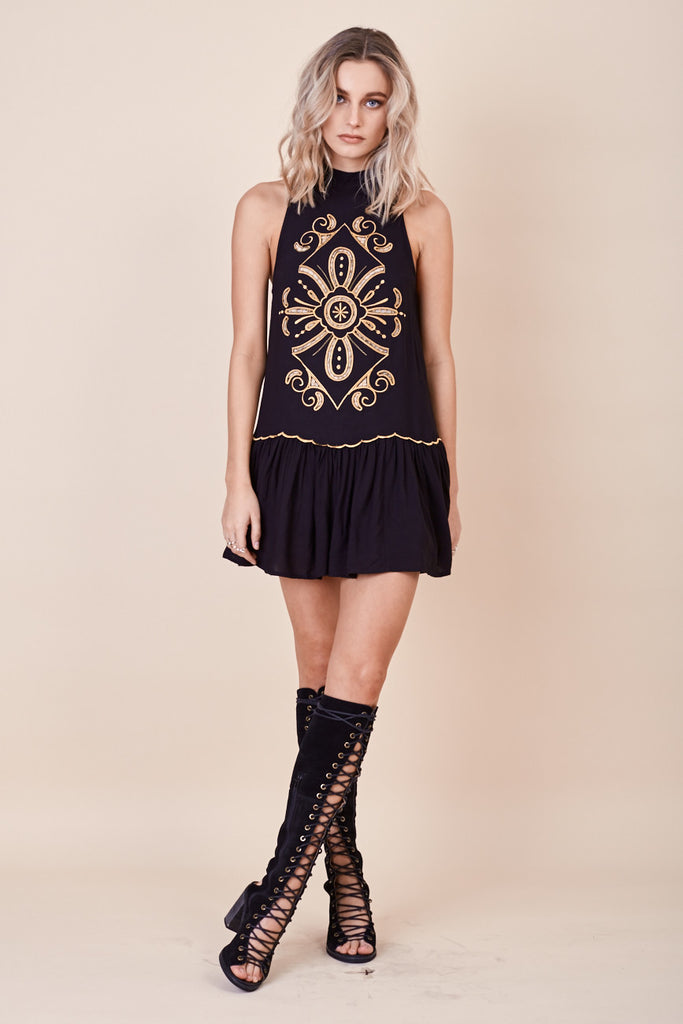 Pandora Embroidered Dress Black - Morrisday | The Label - 3