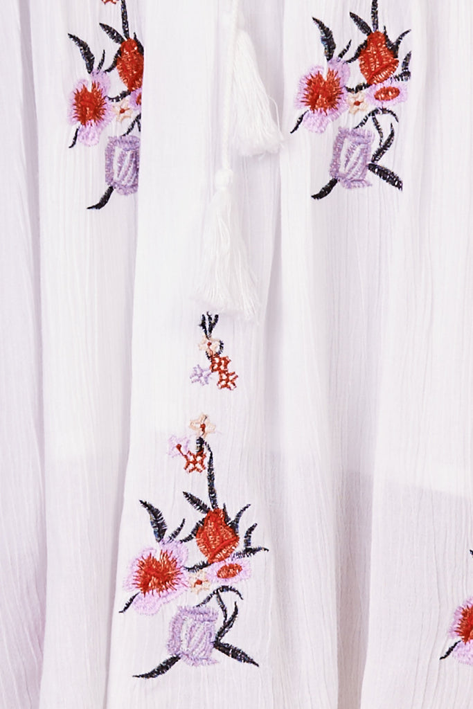 Sun Chaser Embroidered Dress White - Morrisday | The Label - 7