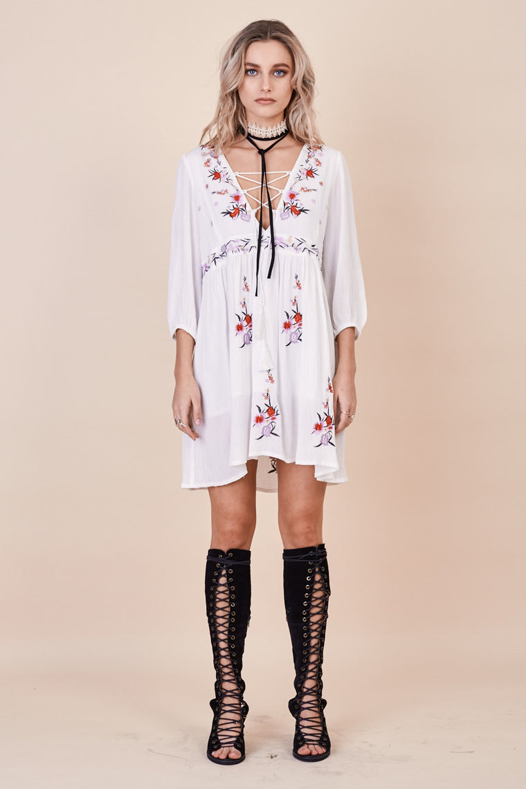 Sun Chaser Embroidered Dress White - Morrisday | The Label - 1