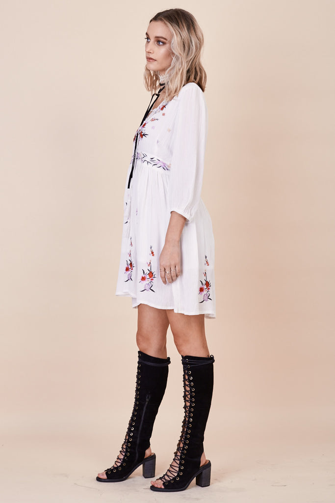 Sun Chaser Embroidered Dress White - Morrisday | The Label - 5