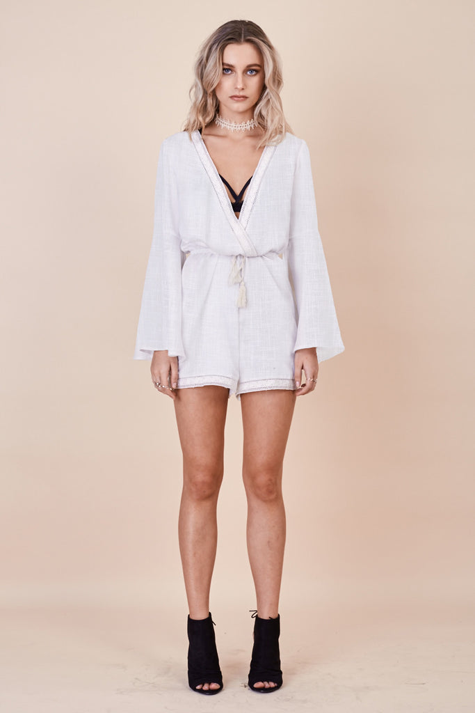 Stevie Bell Sleeve Playsuit - Morrisday | The Label - 1
