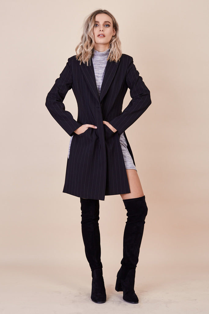 Skyfall Coat Pinstripe - Morrisday | The Label - 1