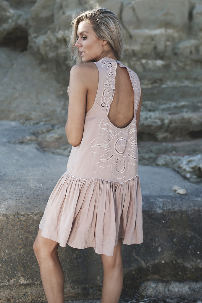 Pandora Embroidered Dress Nude - Morrisday | The Label - 6