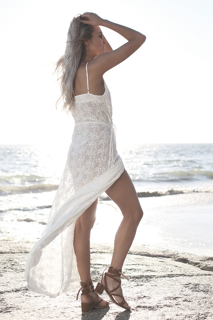 Melody Lace Wrap Maxi Dress White - Morrisday | The Label - 5