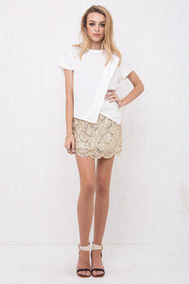 Mermaid Sequin Mini Skirt Gold