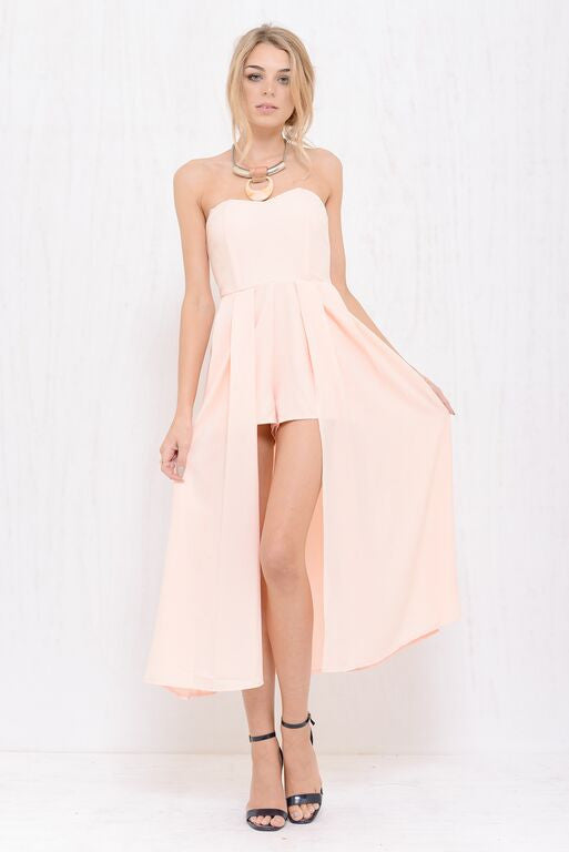 Angel Maxi Skort Dress Peach - Morrisday | The Label - 1