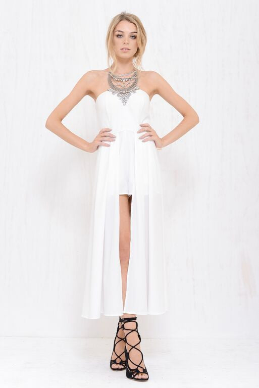 Angel Maxi Skort Dress White - Morrisday | The Label - 1