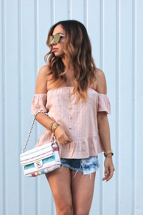 Sweet Nothing Off Shoulder Top Pink - Morrisday | The Label - 7