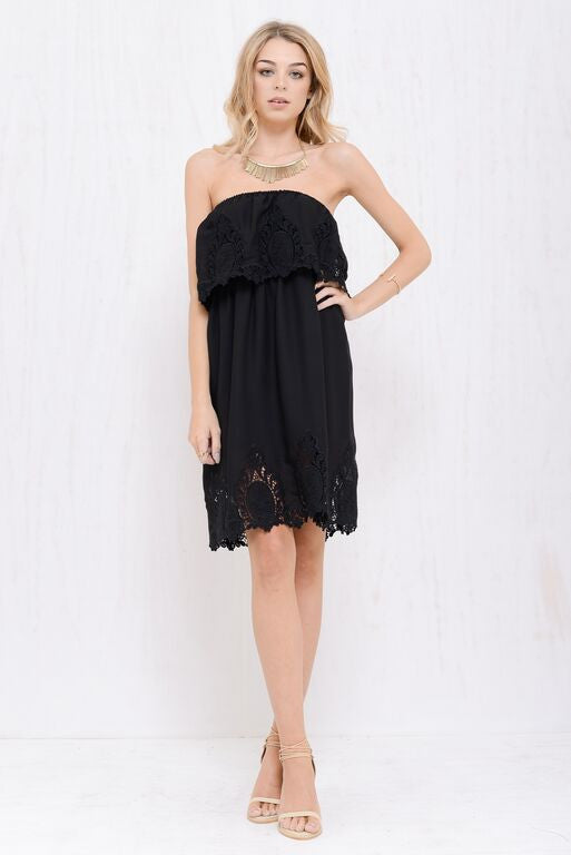 Into The Bloom Dress Black - Morrisday | The Label - 1