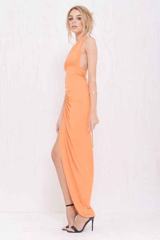 Kimberly Plunge Dress Orange - Morrisday | The Label - 2