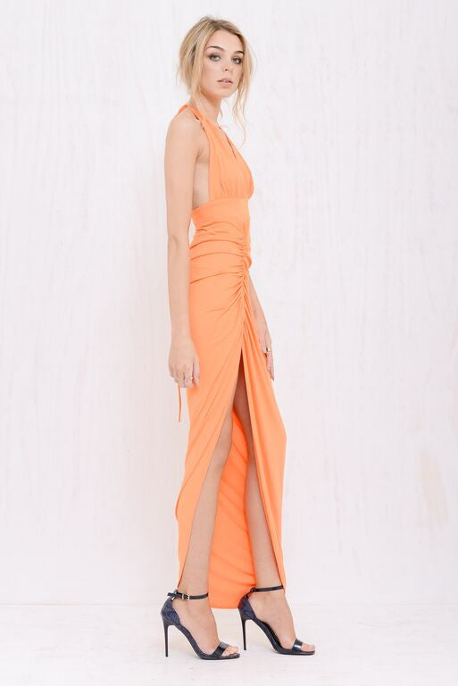 Kimberly Plunge Dress Orange - Morrisday | The Label - 3