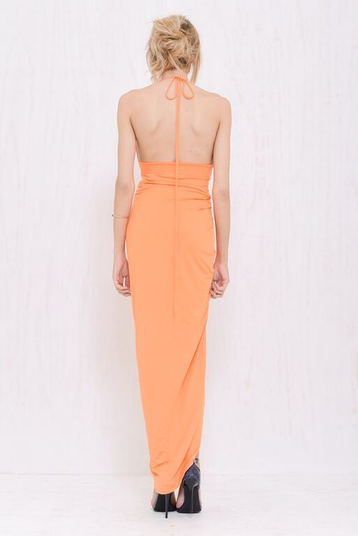 Kimberly Plunge Dress Orange - Morrisday | The Label - 4
