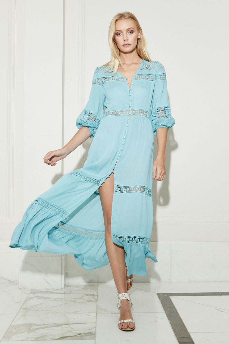 Gypsy Light Maxi Dress - Sky - Morrisday | The Label - 1