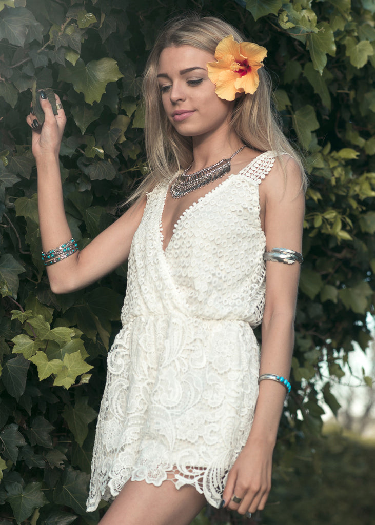 Juliette Lace Playsuit White - Morrisday | The Label - 1