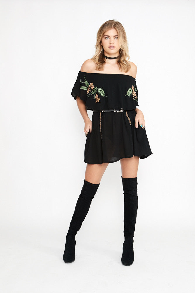 Saint Rodeo Off Shoulder Top