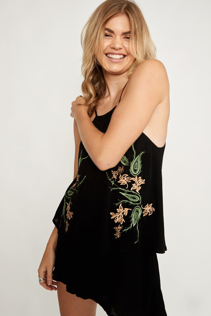 Saint Rodeo Playsuit Black