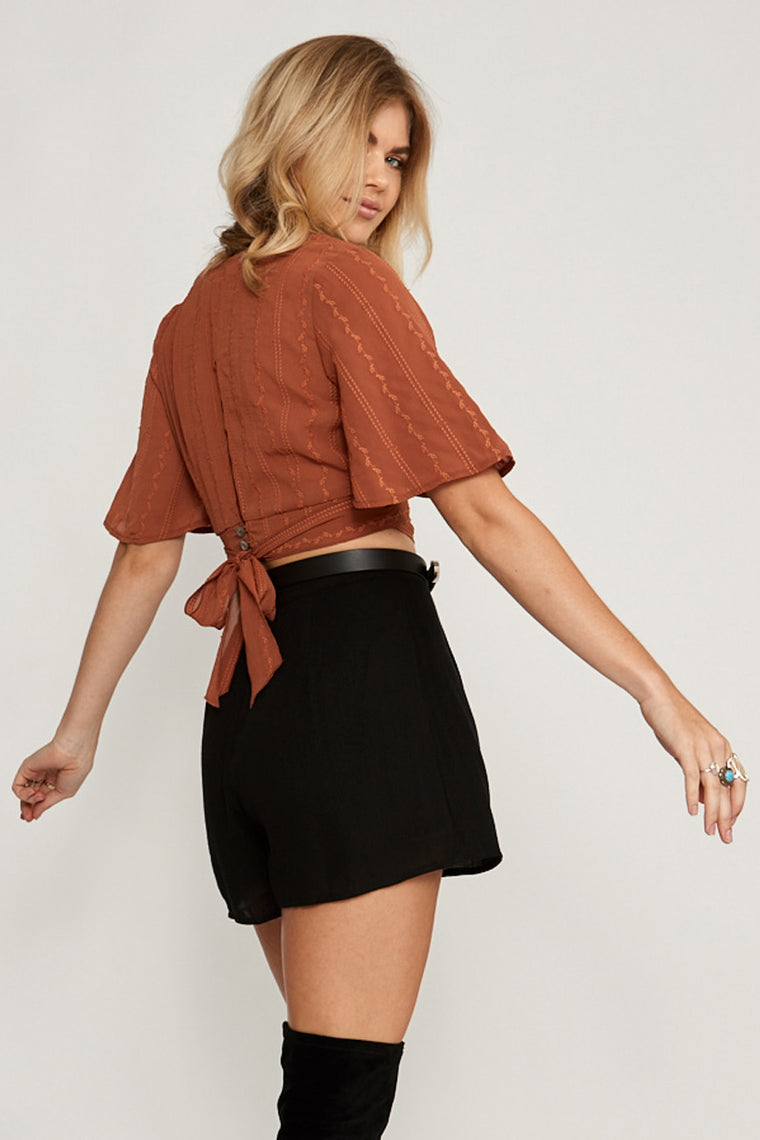Desert Flower Crop Top