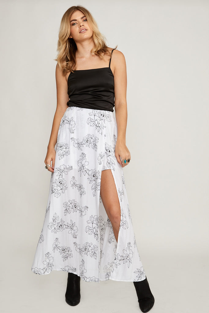 Dahlia Stripe Maxi Skirt