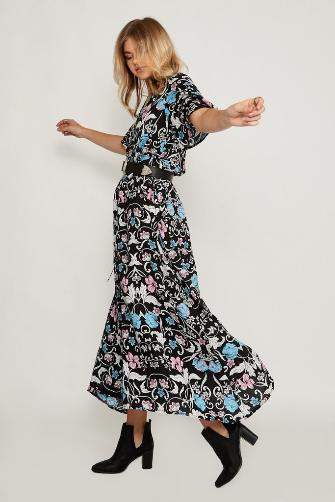 Gypsy Rose Button Maxi Dress