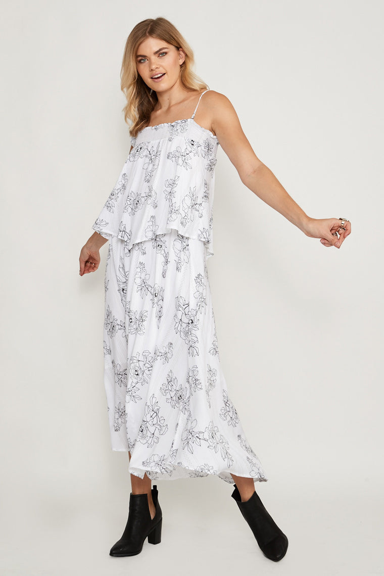 Dahlia Stripe Maxi Dress
