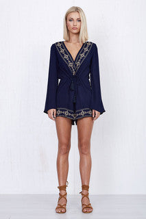 Mystic Night Longsleeve Playsuit Navy