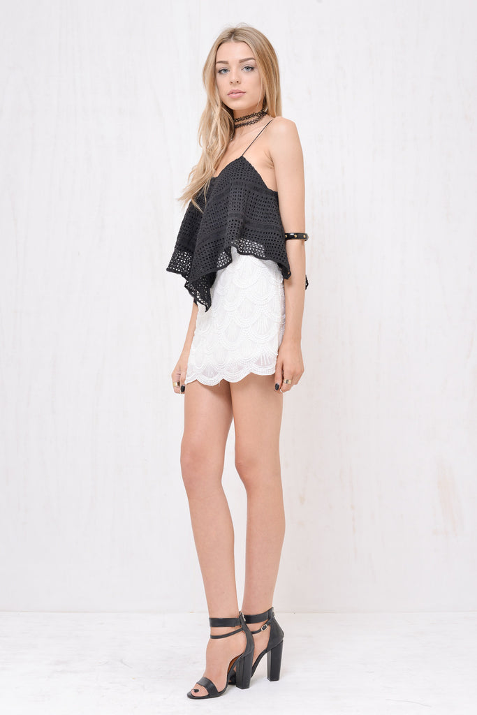 Mermaid Sequin Mini Skirt White - Morrisday | The Label - 3