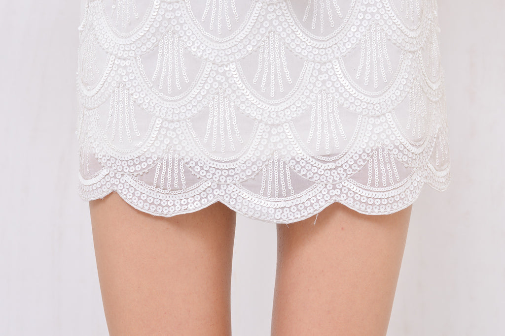 Mermaid Sequin Mini Skirt White - Morrisday | The Label - 7