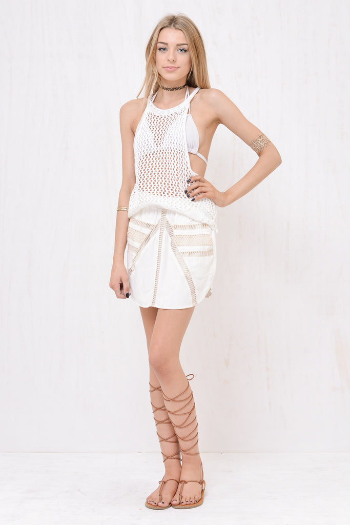 Santorini Loose Knit Singlet White - Morrisday | The Label - 4