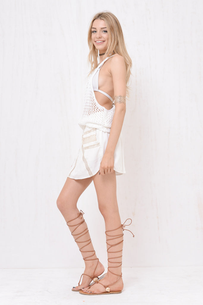 Santorini Loose Knit Singlet White - Morrisday | The Label - 3