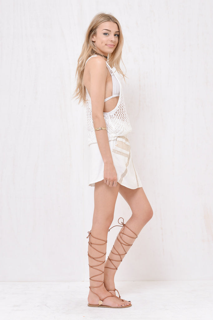 Santorini Loose Knit Singlet White - Morrisday | The Label - 2